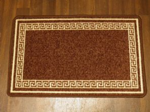 NON SLIP DOORMATS 50X80CM GEL BACKING GOOD QUALITY KEY DESIGN ALL COLOURS BROWN